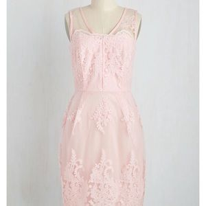 ModCloth's Outstanding on Ceremony Dress in Blush